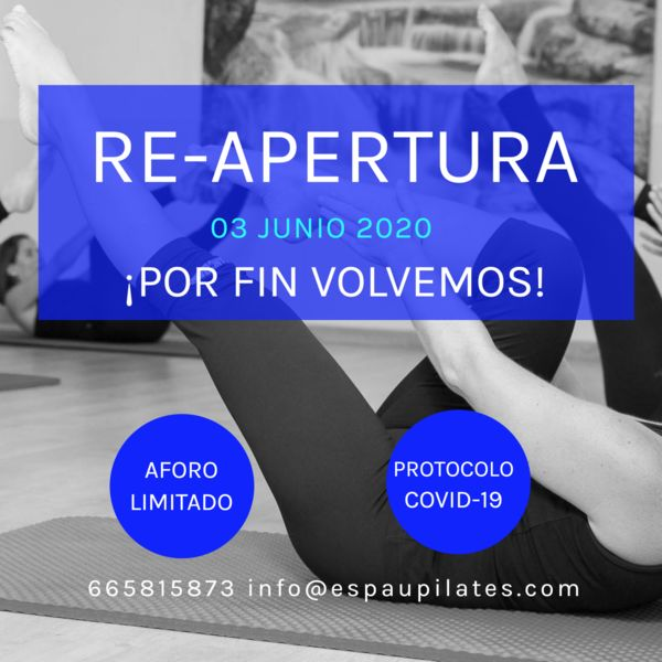 RE-APERTURA ESPAU PILATES